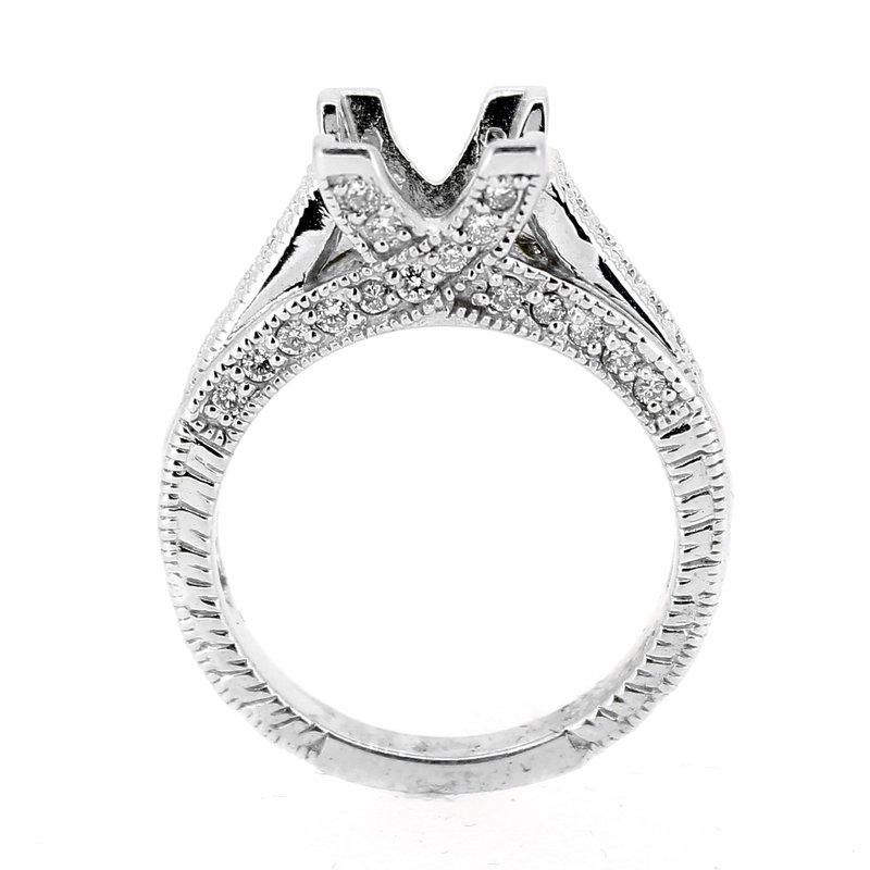 Decor Diamond Ring Mounting with Filigree