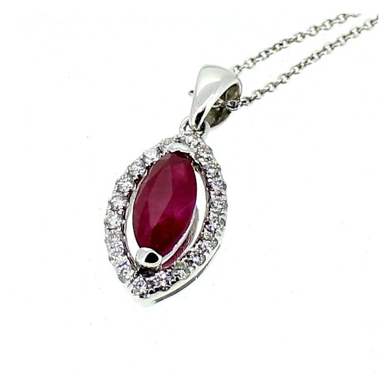 Decor Ruby & Diamond Necklace