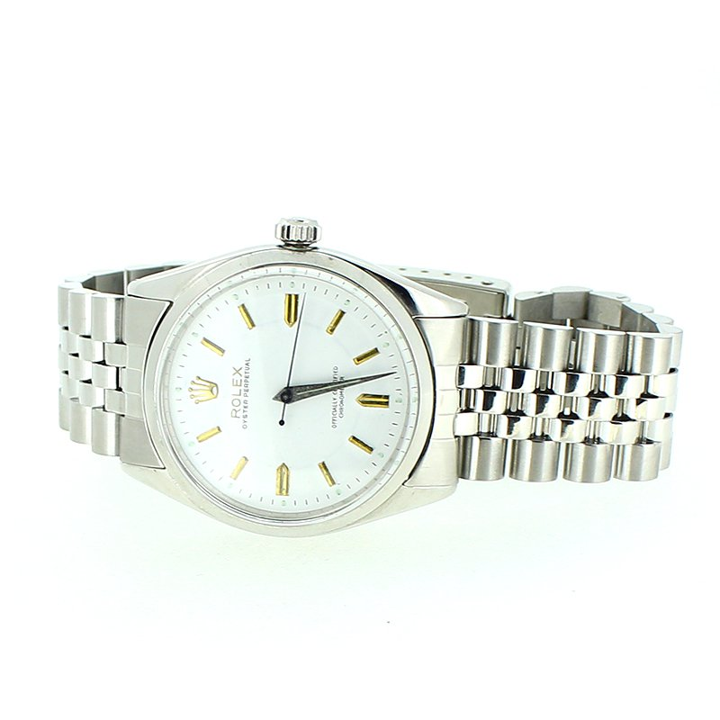 Pre-owned Rolex Stainless Steel w/Gold Markers