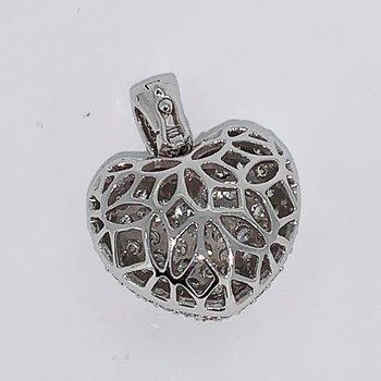 Pave Diamond Heart Pendant