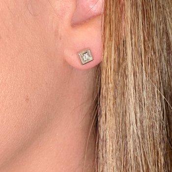 Illusion Set Diamond Earrings