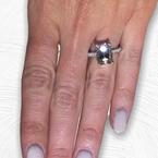 Decor Emerald Cut Pave Diamond Ring