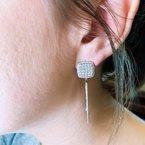 Decor Diamond Pave Drop Earrings