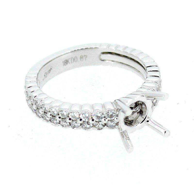 Decor Bezel Two Row Diamond Ring Mounting