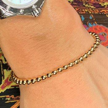 Gold Beaded Stretch Bracelet