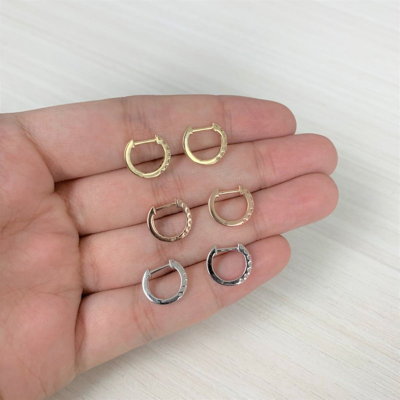 Sabrina Diamond Huggie Hoop Earrings