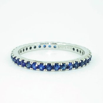 1.07ctw Sapphire Eternity Band