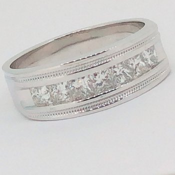 Men's 1ctw Diamond Band