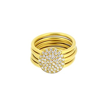 Pave 5 Band Diamond Ring