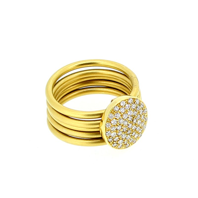 Marika Pave 5 Band Diamond Ring
