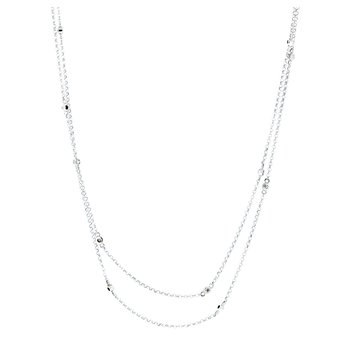 Long Diamond Chain Necklace