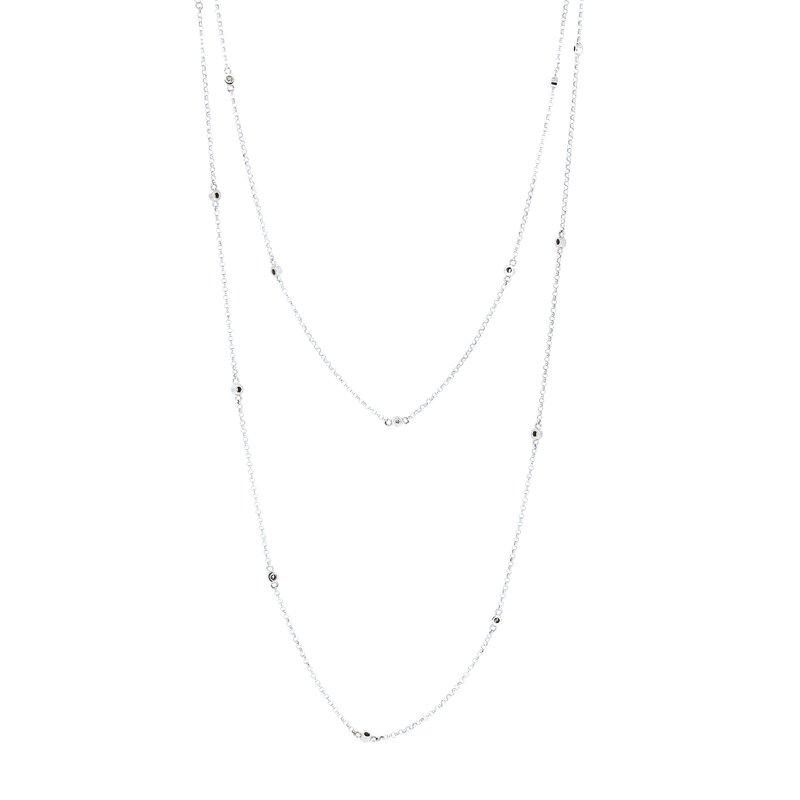 Decor Long Diamond Chain Necklace