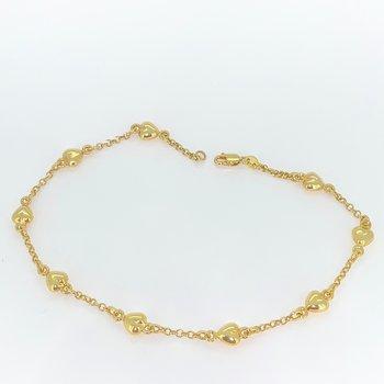 Gold Heart Ankle Bracelet