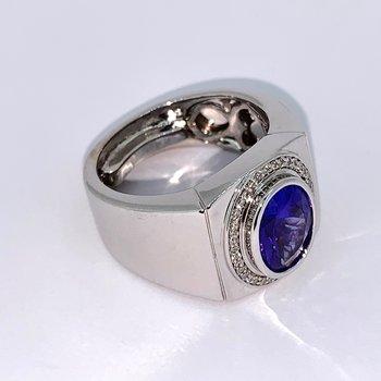 Wide Tanzanite Ring