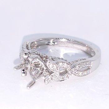 Vintage Inspired Diamond Ring Mounting