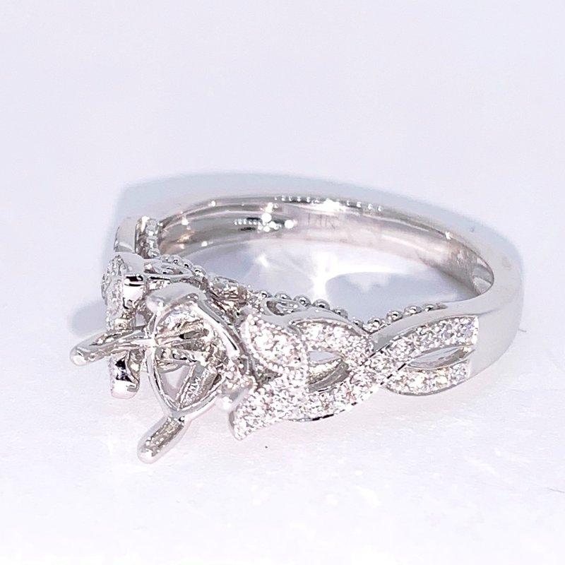 Decor Vintage Inspired Diamond Ring Mounting
