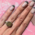 Decor Fancy Yellow Cushion Halo Diamond Ring