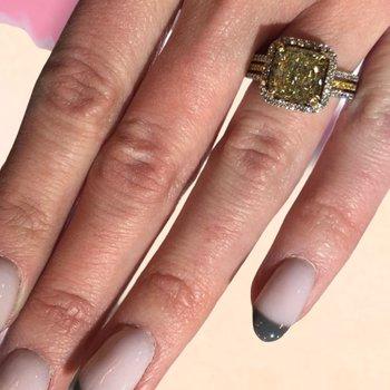 Fancy Yellow Cushion Halo Diamond Ring