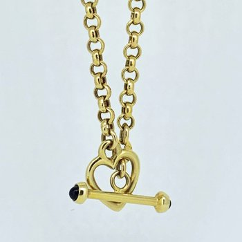 Gold Heart Lariat Necklace