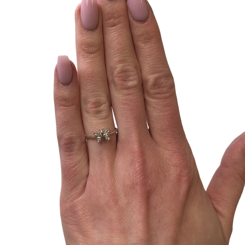 Decor Butterfly Diamond Ring