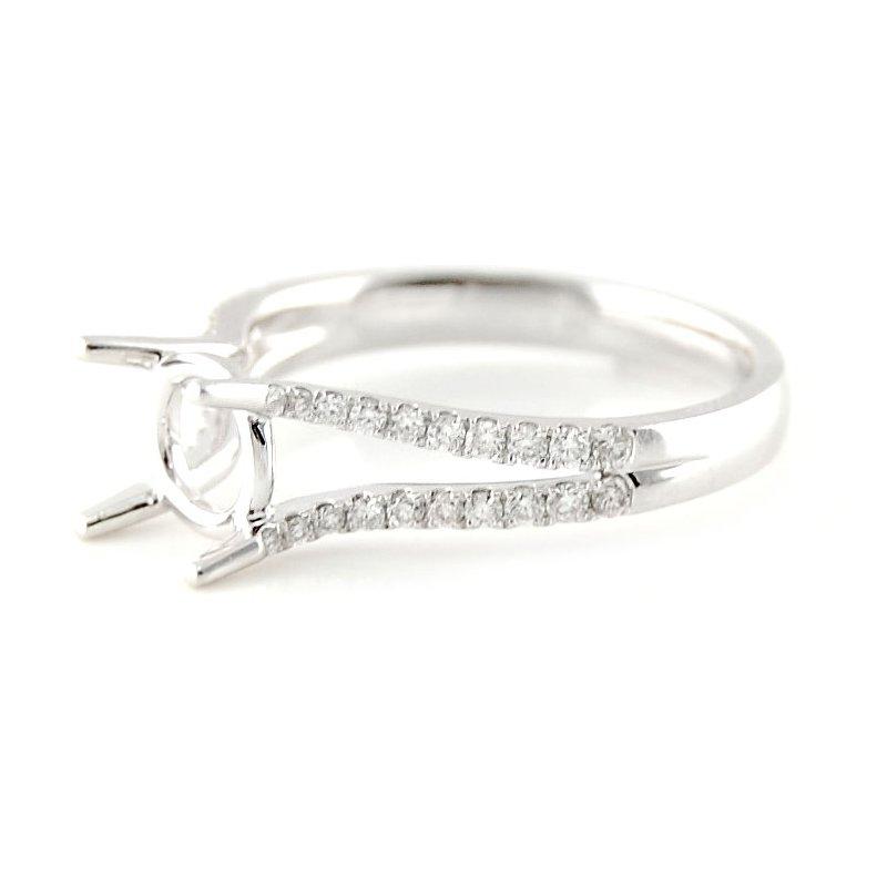 Decor Double Row Open Split Diamond Ring Mounting