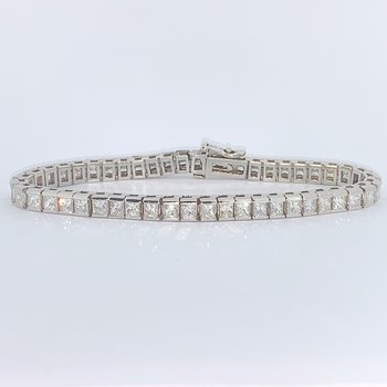 10ctw Princess Cut Diamond Bracelet