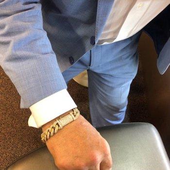 Pave Diamond Curb Bracelet