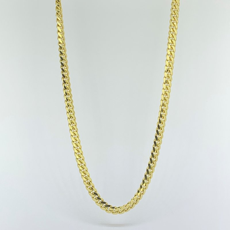 "Decor 22"" Cuban Link Gold Chain Necklace"
