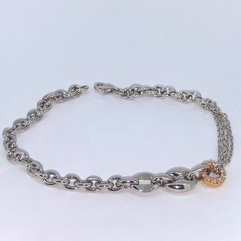 Chain Link Diamond Circle Bracelet