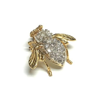 Vintage Diamond Bee Pendant