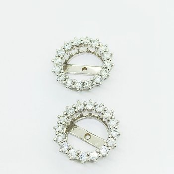 Diamond Halo Earring Jackets