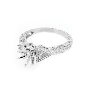 Trilliant Diamond Engagement Ring Mounting