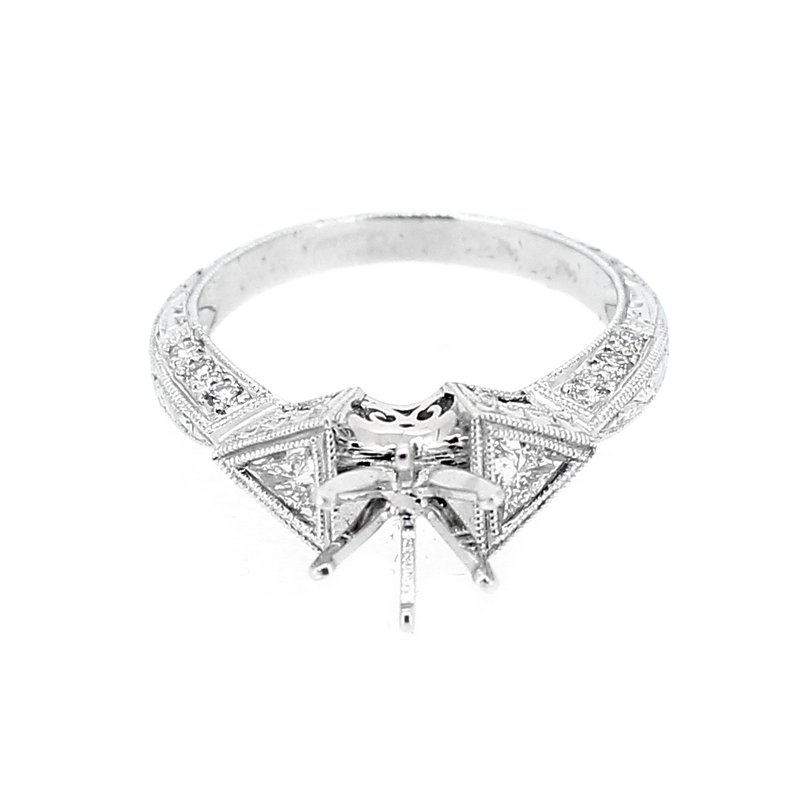 Decor Trilliant Diamond Engagement Ring Mounting