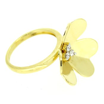Gold Floral Diamond Ring