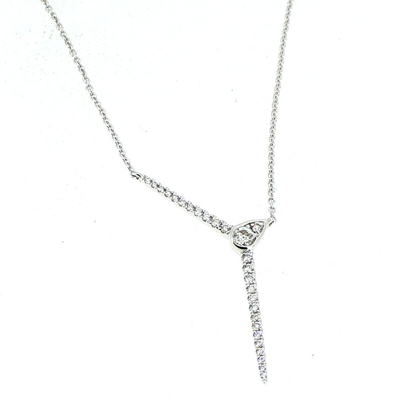 Decor Diamond Drop Necklace