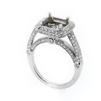 Pave Diamond Halo Ring Mounting