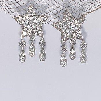 Diamond Star Dangle Studs