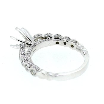 Diamond Ring Mounting with Bezel Set Side Diamonds