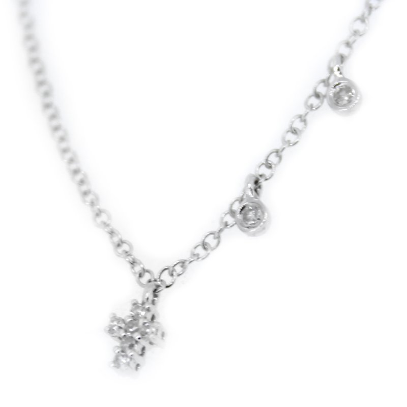 Meira T Small Diamond Cross Necklace from Meira T
