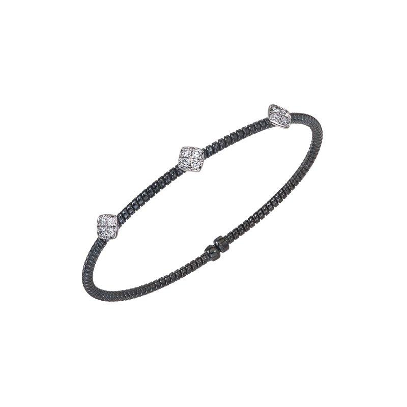 DA Gold Black & White Gold Diamond Cuff Bracelet