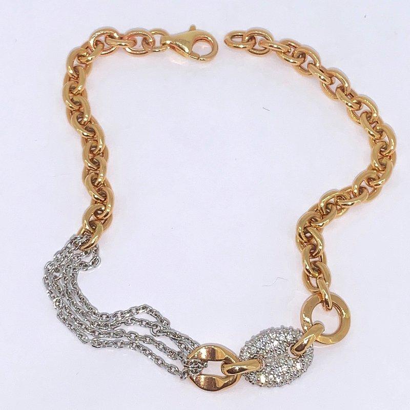 Chain Link Pave Diamond Bracelet