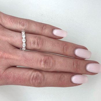 Oval Diamond Band