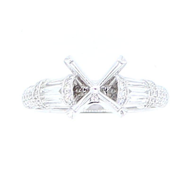Decor Baguette & Round Diamond Ring Mounting