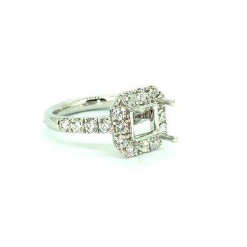 1.14ct Diamond Halo Ring Mounting
