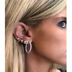 Decor 2.00ctw Round Inside Out Hoop Earrings