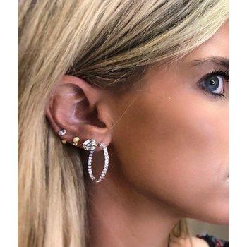 2.00ctw Round Inside Out Hoop Earrings