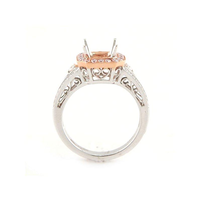 Decor Rose & White Gold Diamond Ring Mounting