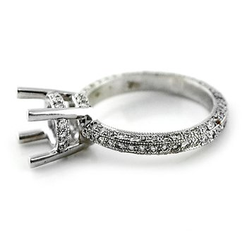 Pave Eternity Diamond Ring Mounting