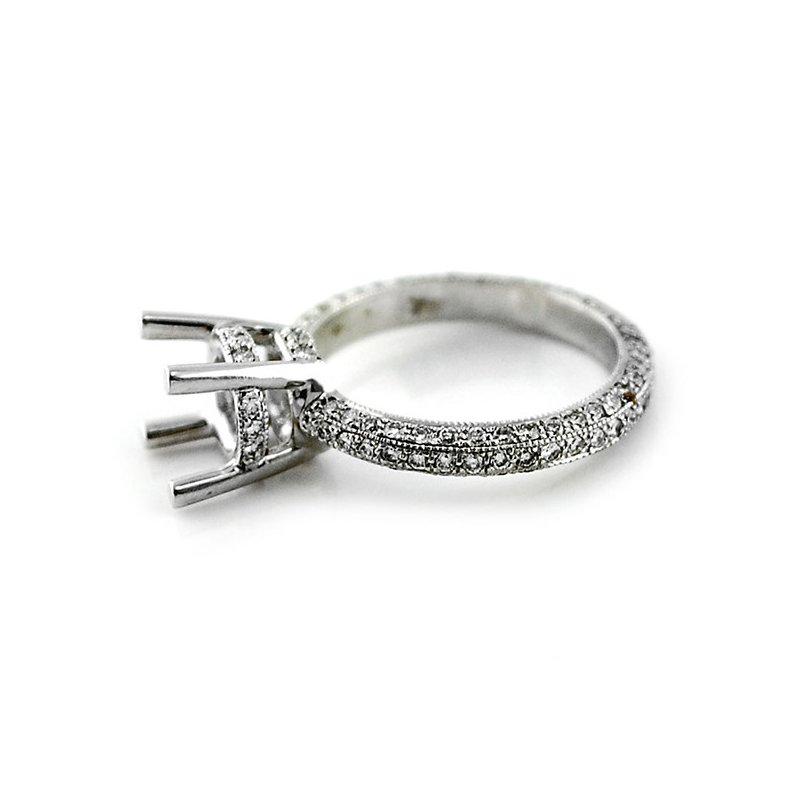 Decor Pave Eternity Diamond Ring Mounting