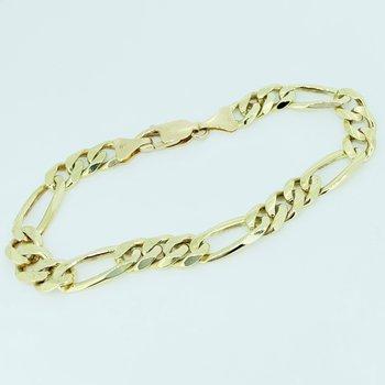 Gold Figaro Link Bracelet